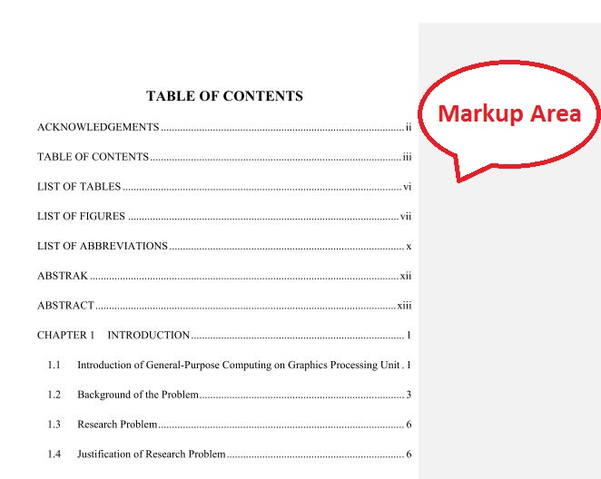 Microsoft Word 2013 – Remove Markup Area | Ooiks's Blog